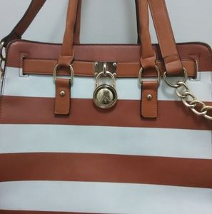 Michael Kors striped bag